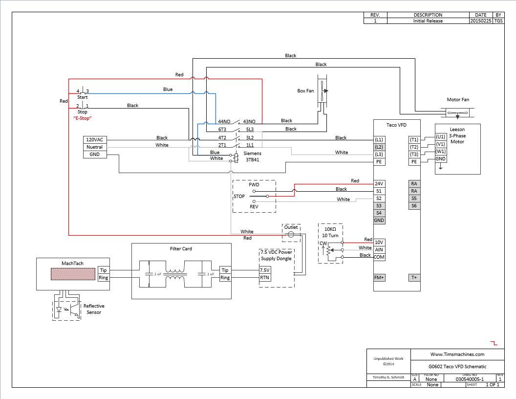 motor wiring diagram for grizzly techo vfd  mach tach  and    motor    upgrade     www timsmachines com  techo vfd  mach tach  and    motor    upgrade     www timsmachines com